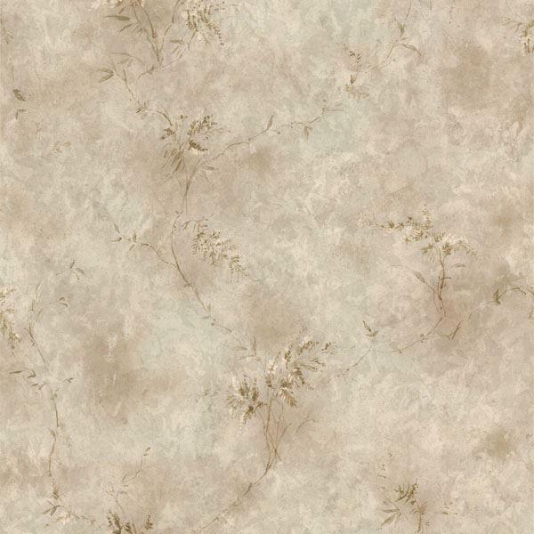 Bertrand Silver Satin Fern Texture