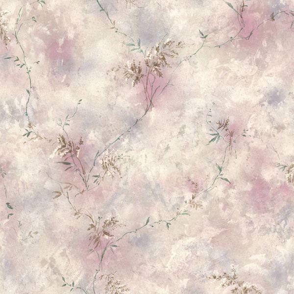 Bertrand Purple Satin Fern Texture