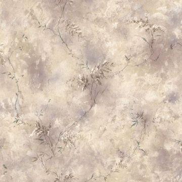 Bertrand Taupe Satin Fern Texture