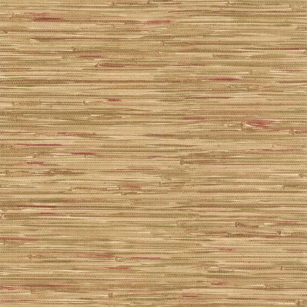 Faraji Light Brown Faux Grasscloth
