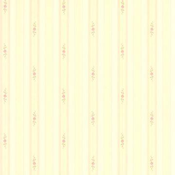 Rosette Beige Rosebud Stripe