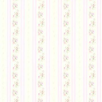 Princess Lavender Floral Stripe