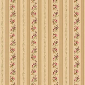 Princess Gold Floral Stripe