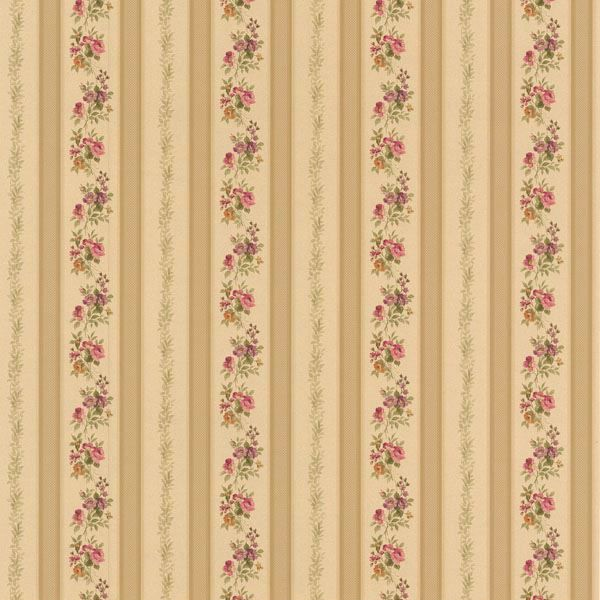 Princess Gold Floral Stripe