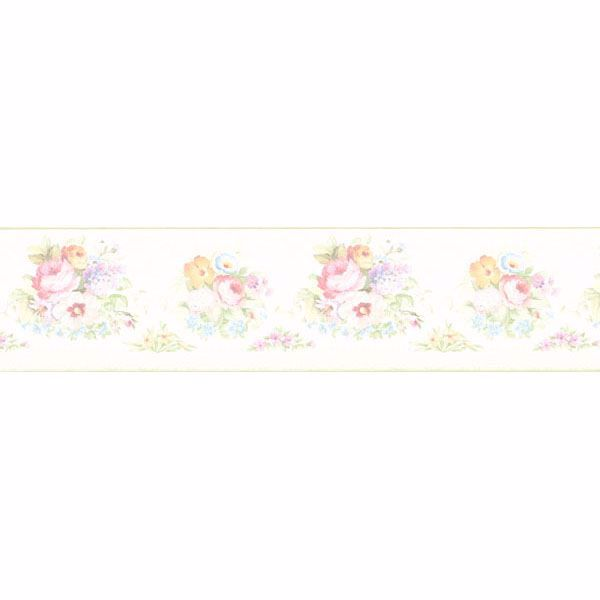 Vicky White Victorian Floral Border