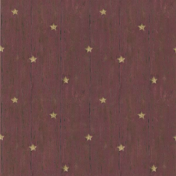 Jefferson Red Wooden Panel With Stars