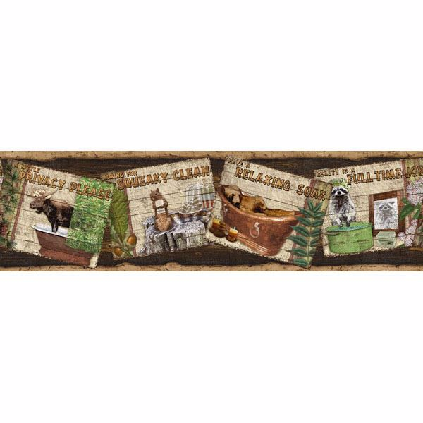 Woodland Humor Brown Rustic Personification Border