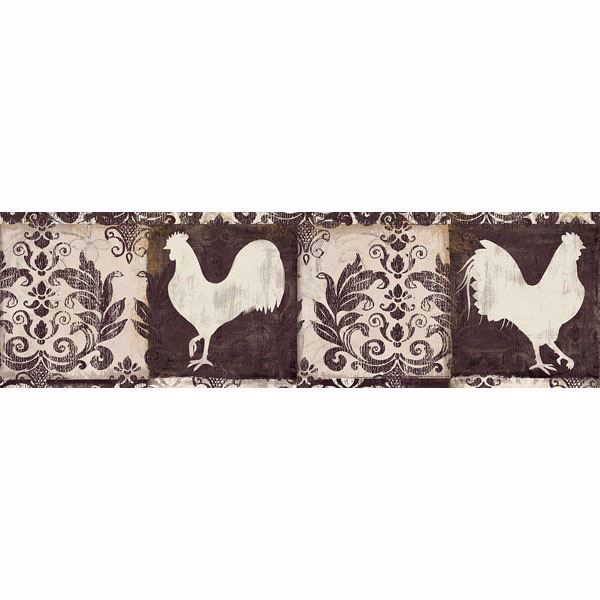 Camilla Brown Damask Chicken Border