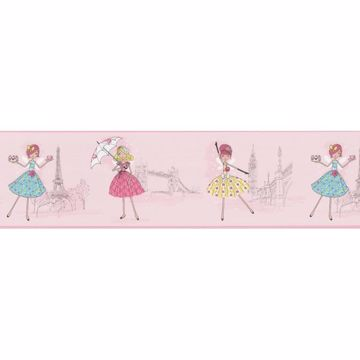 Fairy Tea Time Border Pink European Party Border