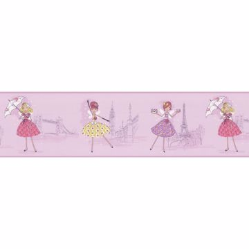 Fairy Tea Time Border Purple European Party Border