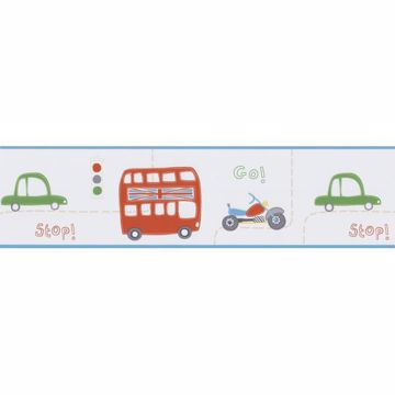 Moto London Border Light Blue British Cars Border