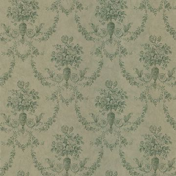 Bellini Green Floral Damask