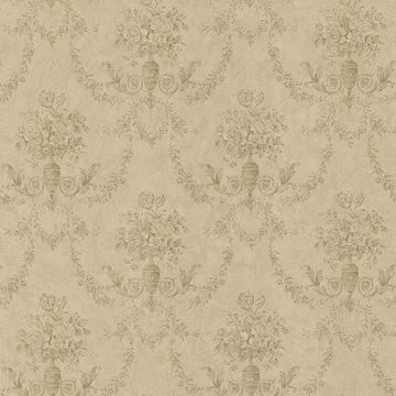 Bellini Taupe Floral Damask