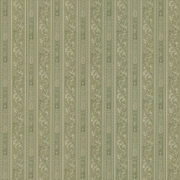 Lorenza Green Scroll Stripe