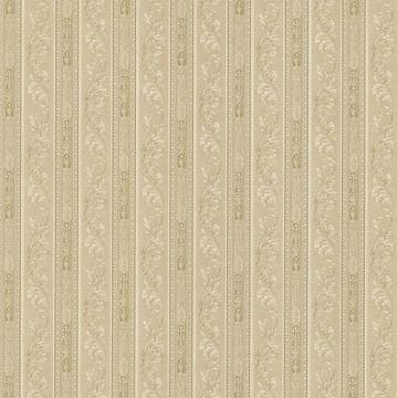 Lorenza Taupe Scroll Stripe