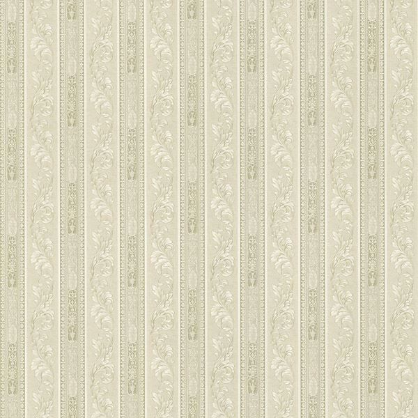 Lorenza Light Grey Scroll Stripe