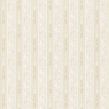 Lorenza Cream Scroll Stripe