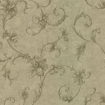 Elysium Light Brown Grape Scroll