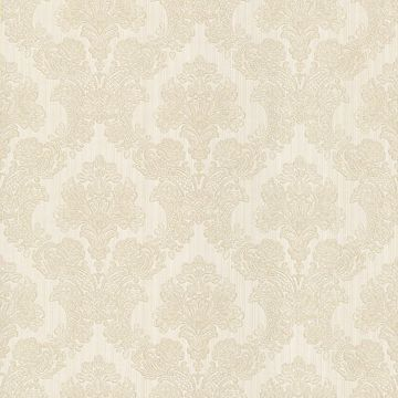 Monalisa White Damask Fabric