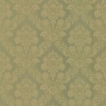 Monalisa Green Damask Fabric