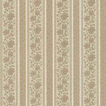 Lissandra Mauve Floral Stripe