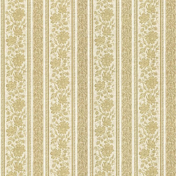 Lissandra Gold Floral Stripe