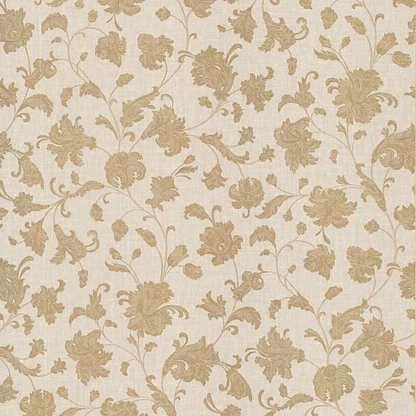 Liliana Beige Floral Scroll
