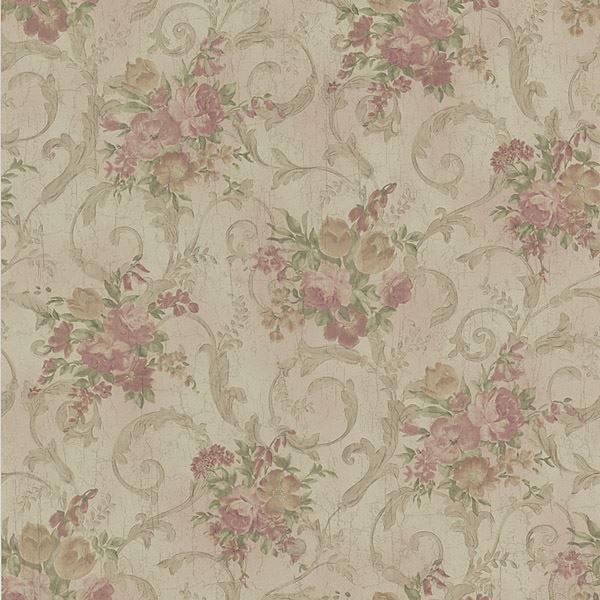 Maria Brass Floral Scroll