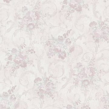 Maria Mauve Floral Scroll