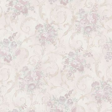 Maria Lavender Floral Scroll