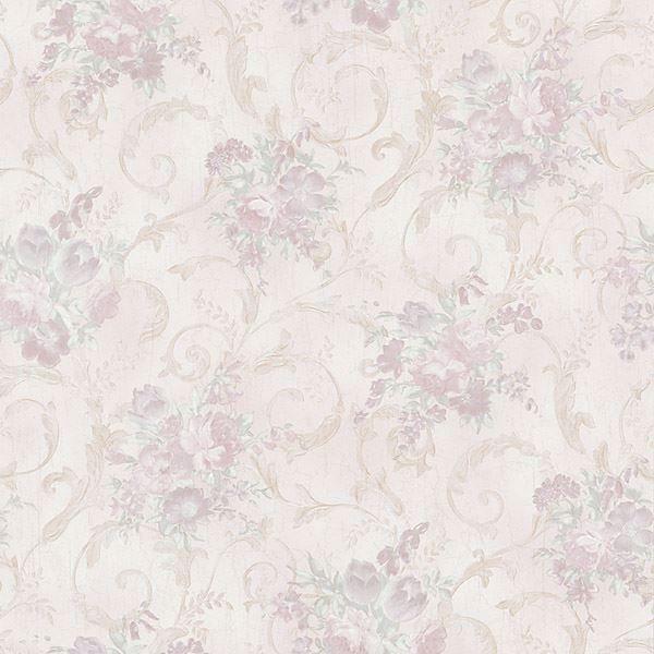 Maria Lavender Floral Scroll