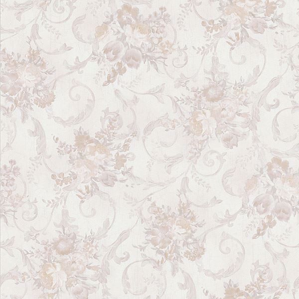 Maria Taupe Floral Scroll