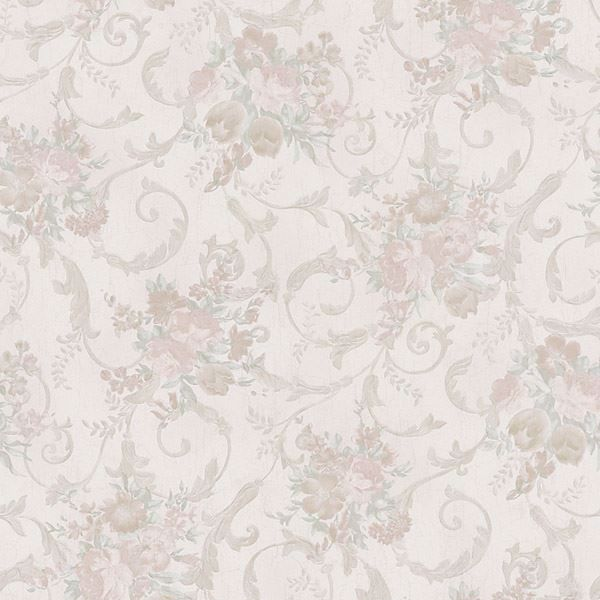 Maria Champagne Floral Scroll