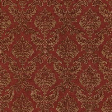 Louis Red Damask