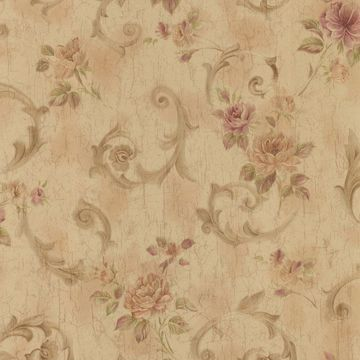 Julietta Brass Floral Scroll