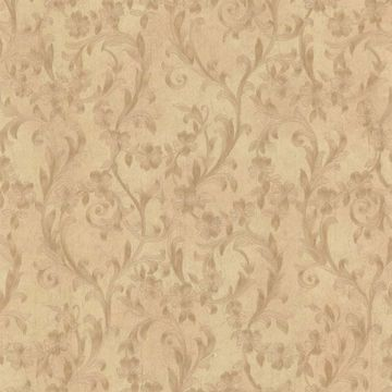 Mena Brass Floral Scroll Texture