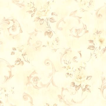 Julietta Cream Floral Scroll