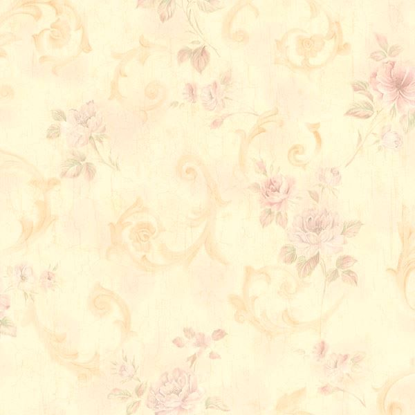 Julietta Beige Floral Scroll