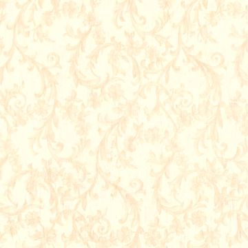 Mena Beige Floral Scroll Texture