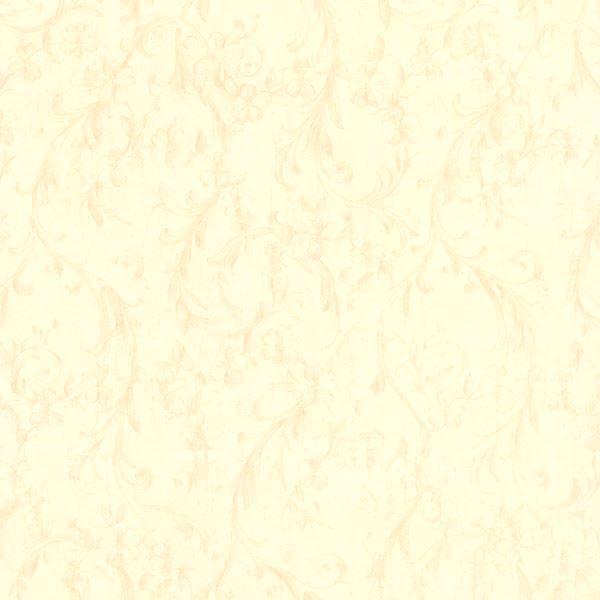 Mena Cream Floral Scroll Texture