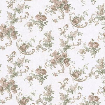 Sanquia Peach Rose Scroll