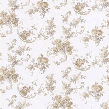 Sanquia Taupe Rose Scroll