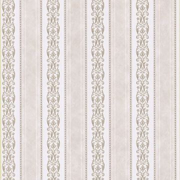 Juliette Taupe Scroll Stripe