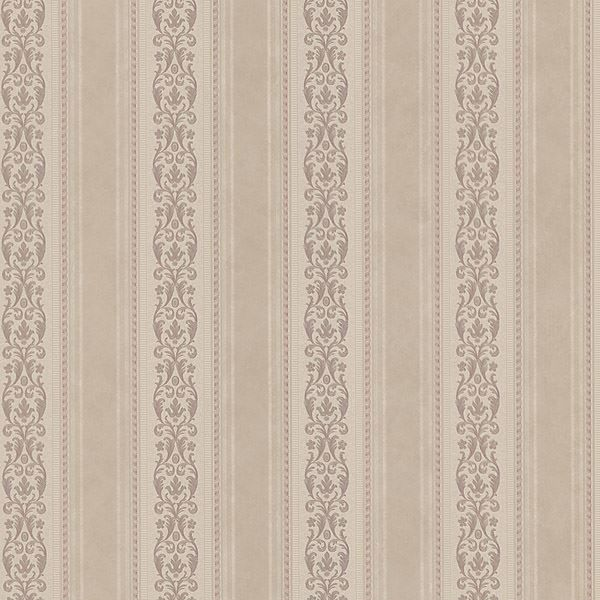 Juliette Mauve Scroll Stripe