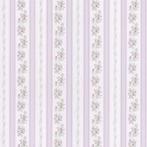 Loretta Lavender Linen Leaf Stripe