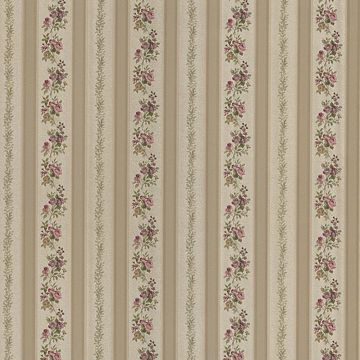 Loretta Gold Linen Leaf Stripe