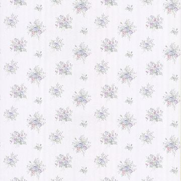 Myrna Light Blue Linen Floral Toss