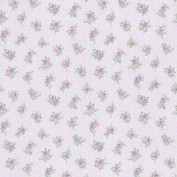 Clarissa Purple Small Floral Toss