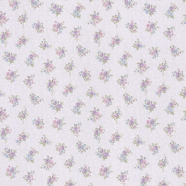 Clarissa Purple Small Floral Toss
