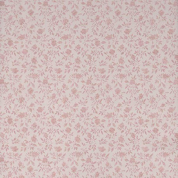 Rosalind Pink Satin Floral Toss